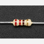 Through-Hole Resistors - 220 ohm 5% 1/4W - Pack of 25 Australia