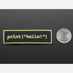 Learn to program Hello world - Skill badge, iron-on patch Australia