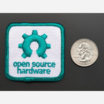 Open source hardware - Skill badge, iron-on patch Australia