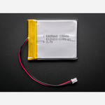 Lithium Ion Polymer Battery - 3.7v 2500mAh Australia