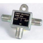 Two Way Splitter - F Connectors - Die Cast Australia