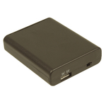 Battery Bank 4 x AA USB A SKT with Switch Black Australia
