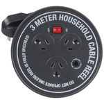3 Way Round Powerboard With 3m Extension Cord Australia