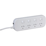 4 way Powerboard with 4 switches and Surge Overload Protection Australia