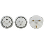 Outbound Mains Travel Adaptor 3 Pack to Suit USA, Europe and UK Outlets Australia