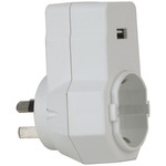 Inbound Mains Travel Adaptor for Europe and USA with USB Port Australia