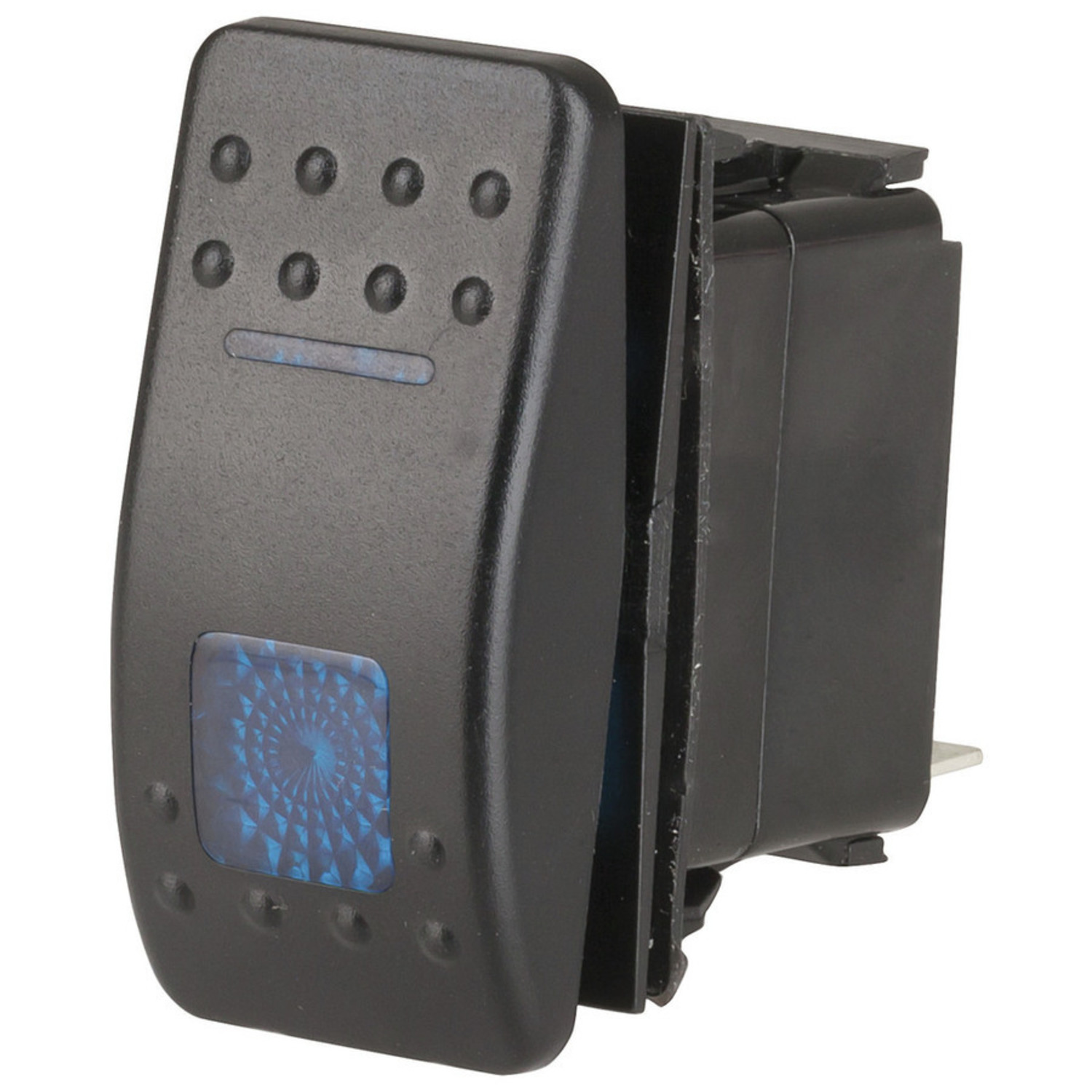 SPDT Dual Illuminated Rocker Switch with Labels & Interchangeable Covers Illuminated Switch Wiring Diagram With Blue on