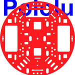 "Pololu 5"" Robot Chassis RRC04A Solid Red Australia"