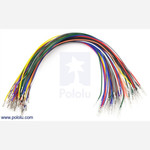 "Wires with Pre-crimped Terminals 50-Piece Rainbow Assortment M-F 12"" Australia"