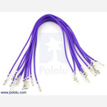"Wires with Pre-crimped Terminals 10-Pack F-F 6"" Purple Australia"