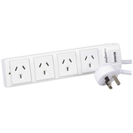4 Way Powerboard with Surge and Overload Protection - 4 Way Australia