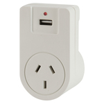 Europe Mains Travel Adaptor with USB Australia