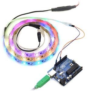 Addressable RGB 30-LED Strip, 5V, 1m, (Low-Speed TM1804